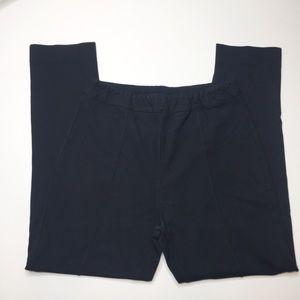 Soft surroundings black Ponte knit leggings PM
